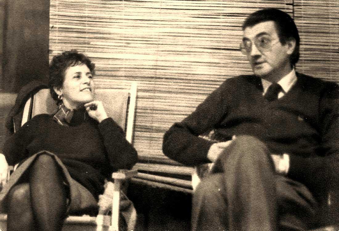 Con Osvaldo Attila. Foto de P. M.Viademonte.