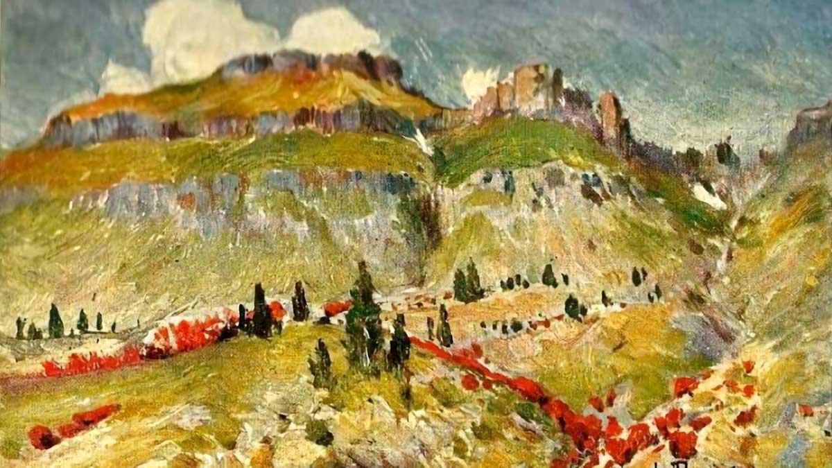 Pintura del cerro Torta de Luigi Paolillo