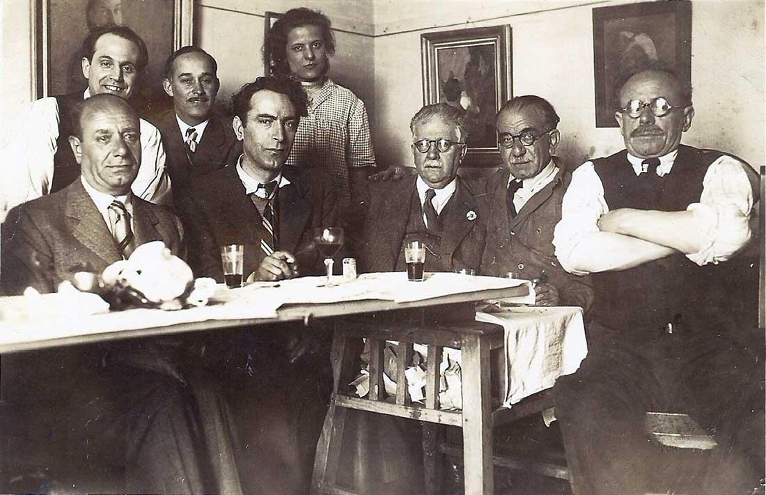 Antonio Porchia, Miguel Diomede, Camino, Fortunato Lacámera y Medardo Cerrotti