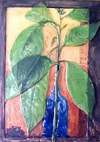 Sara amó el bosque y plasmó detalles en sus cerámicas. Foto de la autora.