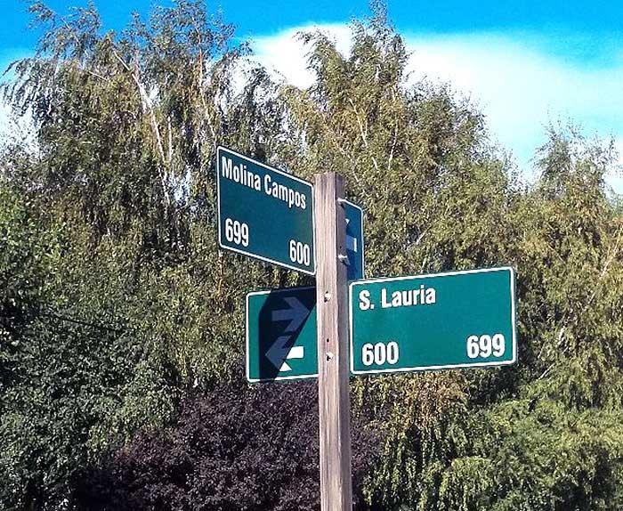 En el barrio sanmartinense con calles que homenajean a varios artistas, está su nombre. Foto de la autora.