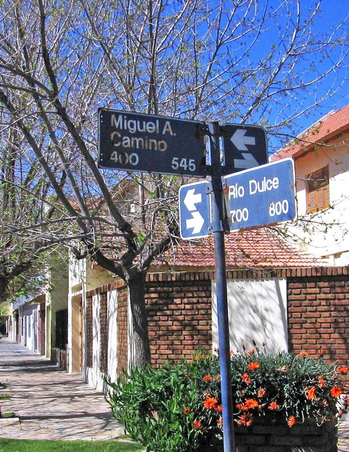 Una calle de Neuquén recuerda a Miguel Camino