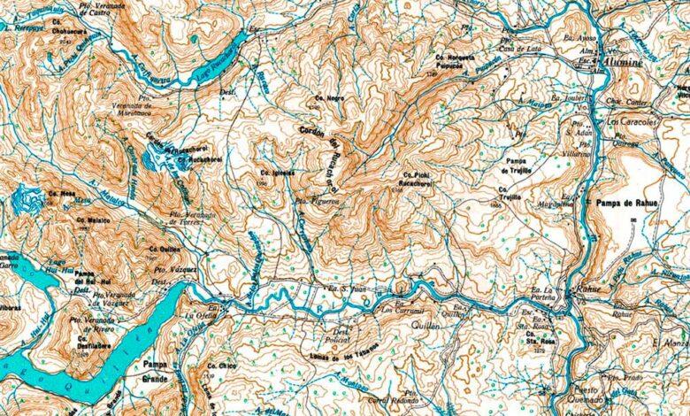 Plano topográfico - Aluminé - 1967