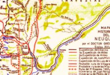 Mapa histórico del Neuquén por Gregorio Álvarez - Siglos XVI al XIX