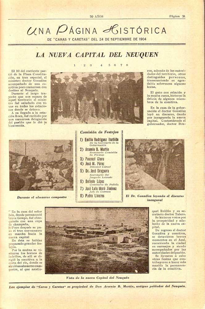 50 años – Neuquén – Álbum conmemorativo – 1954 - Editado por Otto Max Neumann