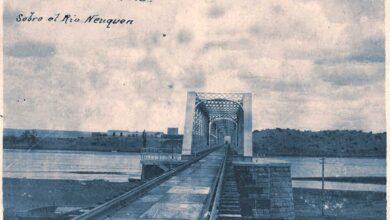 Puente ferroviario sobre el río Neuquén - 1909