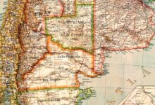 Mapa de la República Argentina de 1918