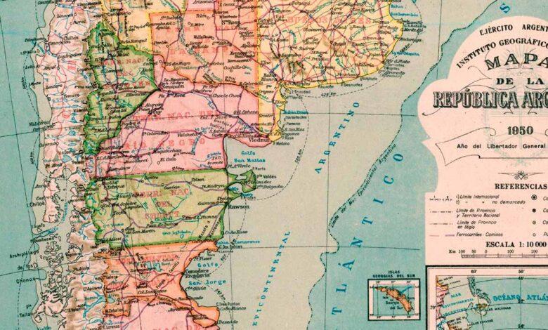 Mapa de la República Argentina de 1950