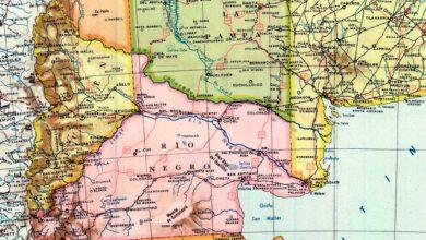 Mapa de la República Argentina de 1958
