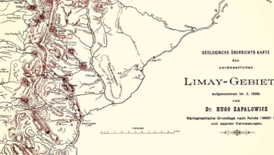 Mapa general de la zona del Limay - 1889 -