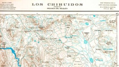 Plano topográfico – Chihuidos Norte – 1955/57