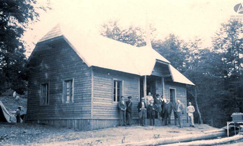 Edificio de la Estación Radiotelegráfica en Paraje Correntoso construida en el año 1932
