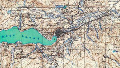 Plano topográfico – San Martín de los Andes – 1937-1939